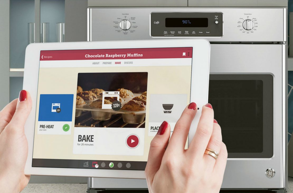Smart oven connects to your smart phone