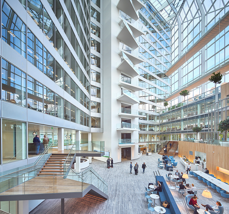 Interior profile of the world's most sustainable building