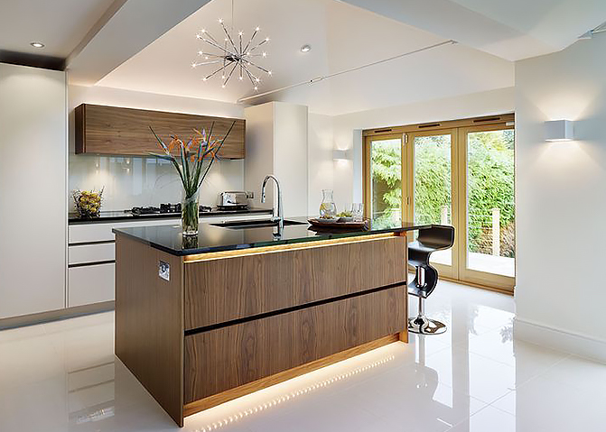 LED lighting control in a Dorset kitchen