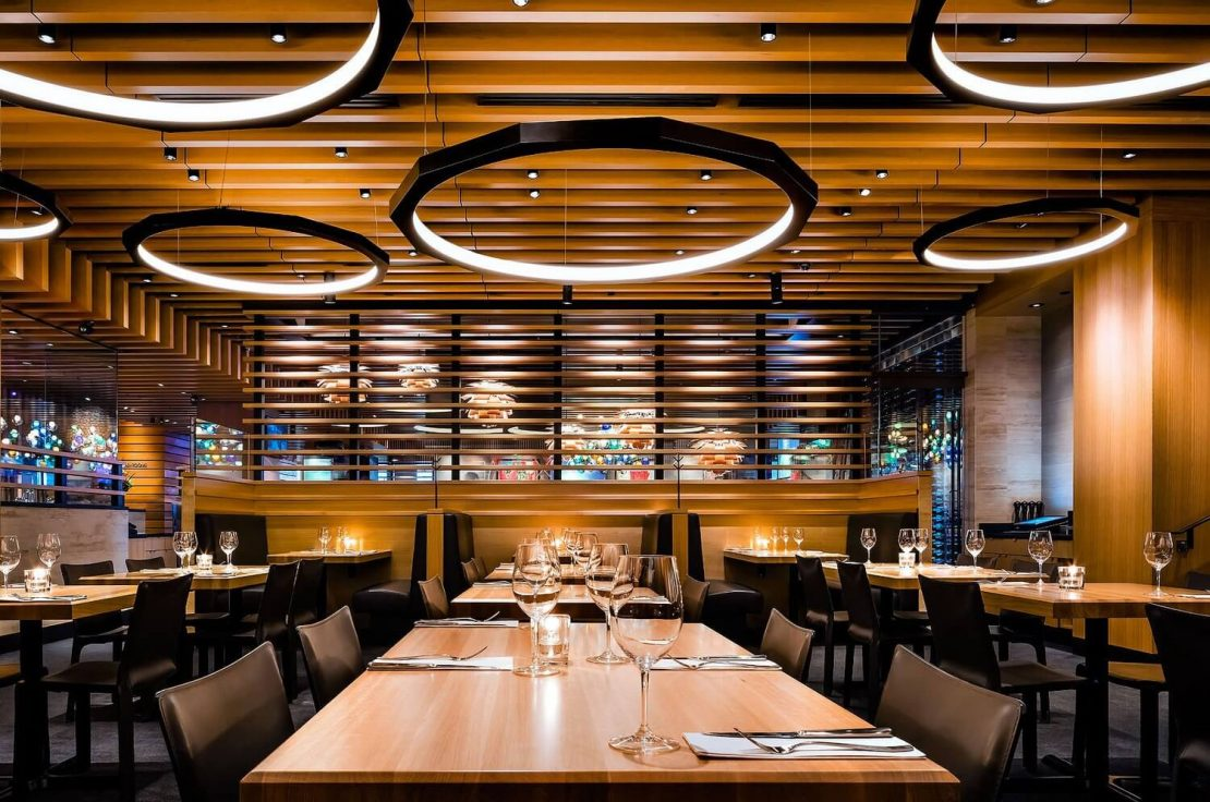 Example of led lighting in a uk restaurant unique tech
